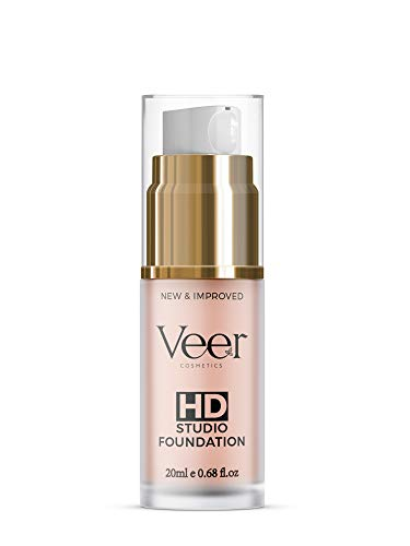 Veer HD Studio Foundation Full Coverage Foundation | Natural Wear Liquid Foundation | Professional Anti-Aging Cosmetics for All Skin Types | Long Lasting Poreless and Scar-free Finish | Nude