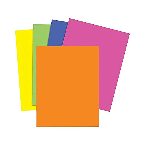 (Staples 733097 Brights 24 Lb. Colored Paper Neon Assorted 500/Ream)