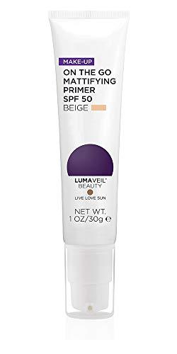 Lumaveil Beauty Makeup On The Go Mattifying Primer SPF 50 Full Size (Beige) ()
