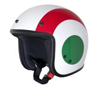 Vespa - Casco con los colores de la bandera italiana, talla XL (casco y