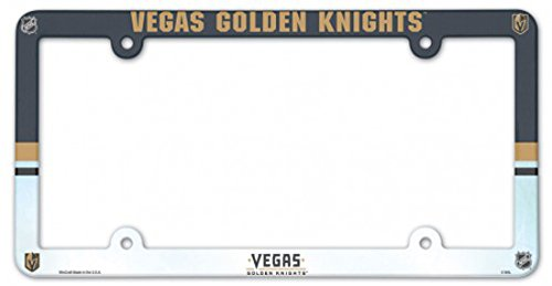 - WinCraft NHL Vegas Golden Knights 6x12 inch Full Color Plastic License Plate Frame