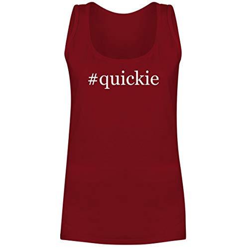 - #Quickie - A Soft & Comfortable Hashtag Women's Tank Top, Red, Large
