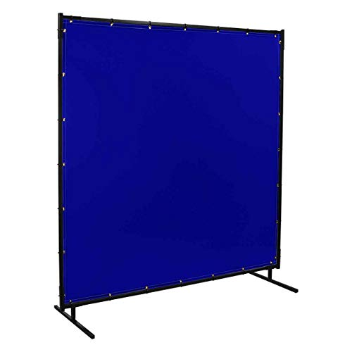 Steiner 525-6X6 Protect-O-Screen Classic Welding Screen with Flame Retardant 14 Mil Tinted Transparent Vinyl Curtain, Blue, 6