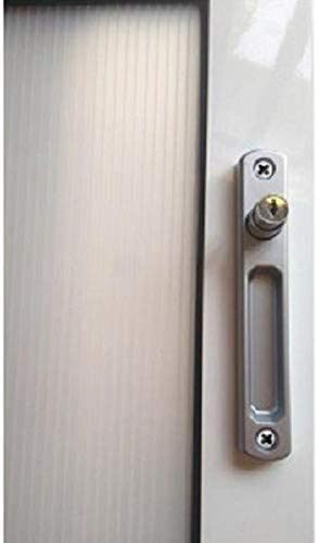 Cierre ventana sobreponer c/llave pulsador (plata): Amazon.es: Bricolaje y herramientas