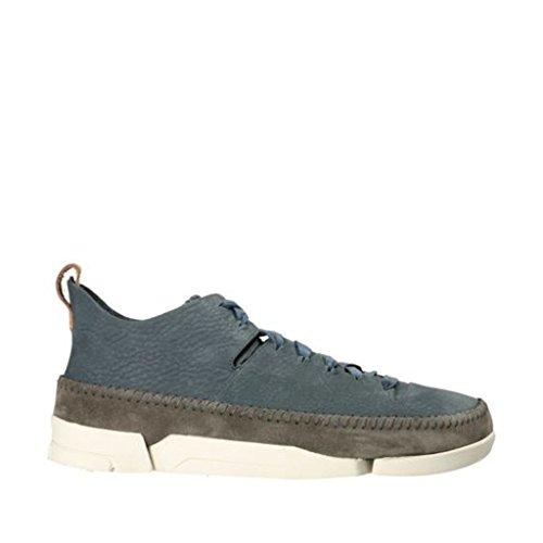 Clarks - Mens Trigenic Flex Shoe, Size: 11.5 D(M) US, Color: Slate Blue Nubuck