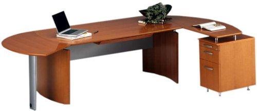 Napoli L-Shape Desk Office Suite Finish: Sierra Cherry