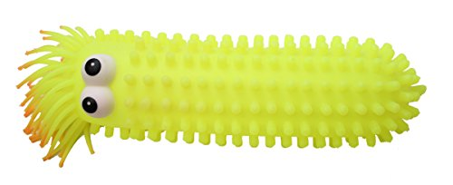 (Curious Minds Busy Bags Giant Knobby Puffer Worm - Sensory Fidget and Stress Balls - OT Autism SPD)