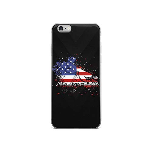 iPhone 6/6s Pure Clear Case Cases Cover Dragonfly American Flag Independence Day Patriotic Animal 4th of July USA