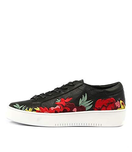 DJANGO & JULIETTE Lusty White Bright Em Womens Sneakers Casuals Shoes BLACK BRIGHT EM LEATHER