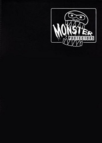 Monster Binder - 9 Pocket Trading Card Album - Matte Black w White Pages - Holds 360 Yugioh, Magic, and Pokemon Cards