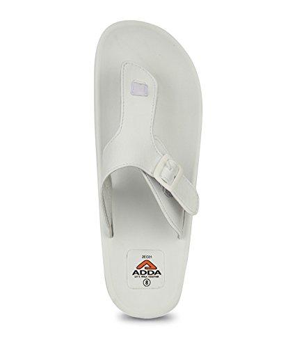Buy ADDA Gents ADAM White Slippers UK-7
