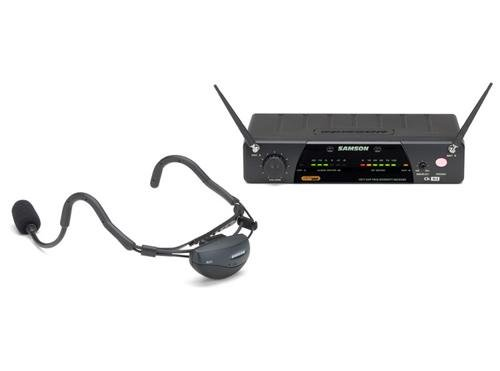 Samson Airline 77 Headset True Diversity UHF Wireless System with Fitness Microphone (Channel K3) (SW7AVSCE-K3)