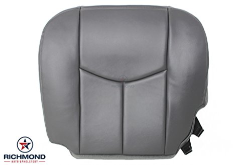 2003-2007 Chevy Silverado 2500HD 2500 HD Work Truck W/T Base Driver Side Bottom Replacement Vinyl Seat Cover, Dark Gray ()