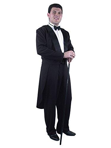 Charades Men's Formalities Tuxedo Jacket, Black, X-Large