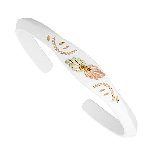 Black Hills Gold White Bangle Bracelet (Hills Bangles Black Gold)