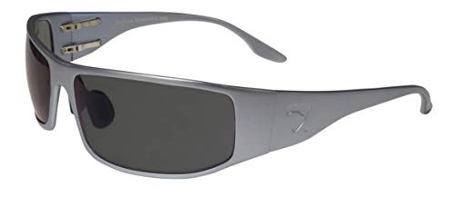 Fugitive Aluminum Tactical and Motorcycle Sunglass, ANSI Z87.1 Impact Protection USA (GunMetal, Gray Polarized)