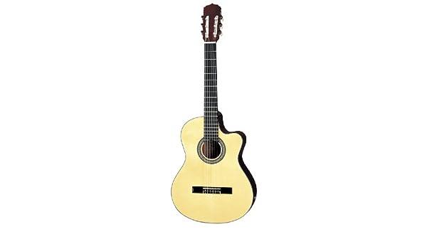 Aria AK-30CE Guitarra Electroacústica clásica tamaño completo ...