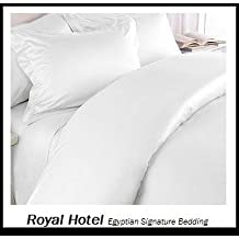 Split-King: Adjustable King Bed Sheets 5PC Solid White 100% Egyptian Cotton 600-Thread-Count, Deep Pocket