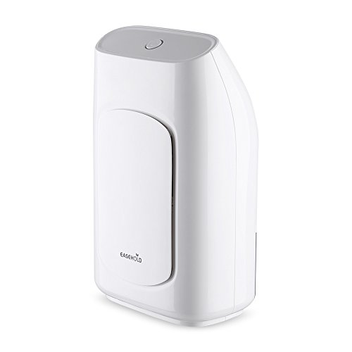 Easehold Compact Mini Dehumidifier with 700ML Water Tank, Whisper-Quiet Operation, Safety Auto Off Protection, Portable for Bedroom, Baby Room, Basements, Bathroom, Dorm Room, Closet, Attic(White)