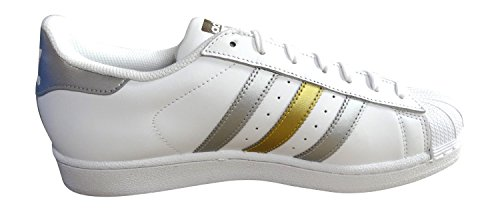 adidas Superstar Foundation Herren Sneakers Weiß Silber Gold BB4882