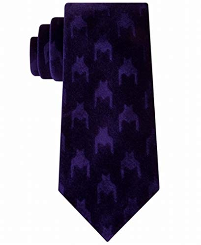 Sean John Mens Velvet Mixed Media Neck Tie Purple O/S
