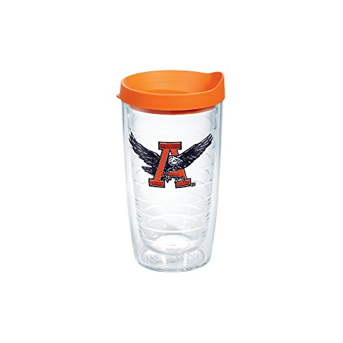 Tervis 1084577 Auburn Tigers College Vault Logo Tumbler with Emblem and Orange Lid 16oz, Clear (Vault Tigers)