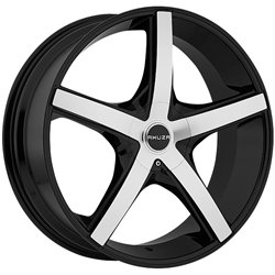 Akuza Axis 18 Machined Black Wheel / Rim 5x100 & 5x115 with a 35mm Offset and a 73 Hub Bore. Partnumber 848880049+35GBM