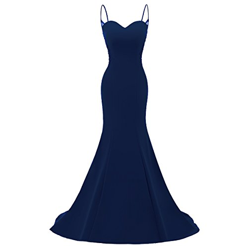 Long Rain Formal Mermaid Choi Dress Evening Dress Women Blue Navy Prom qrgXrxYwU