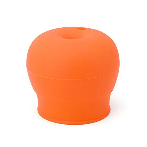Price comparison product image Vanvler Cup Lid Cover, Universal Silicone Spill-Proof Sippy Lids for Travel Cup Straw Glass Lid Jar (Orange)
