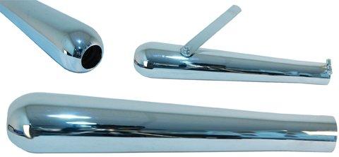 - EMGO Chrome Roadhawk 60 Megaphone Muffler 16-1/8&Prime, Long 80-84035