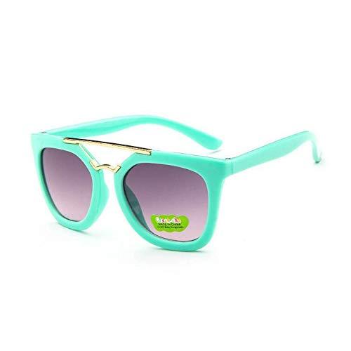 Gafas Sol Doble Infantiles Verde Gafas Haz bebé cuadradas Sol de de Gafas de de Gafas para Burenqiq Hombre Metal green Sol de para Gafas de Sol Semi Sol twXfq0yyxz