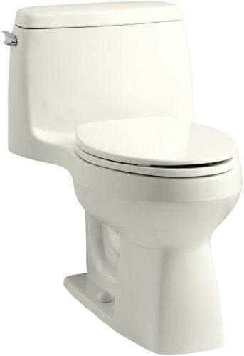 Santa Kohler (KOHLER 3811-96 Santa Rosa Comfort Height Elongated 1.6 GPF Toilet with AquaPiston Flush Technology and Left-Hand Trip Lever, Biscuit)