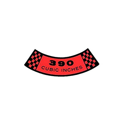 260 Cubic Inches MACs Auto Parts 60-47318 Air Cleaner Decal