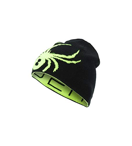 Spyder Boys Big Bug - Spyder Boys' Reversible Bug Hat, Bryte Yellow/Black, One Size