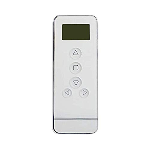Comfortex Window Blinds - Rollerhouse 6 Channel Timer Remote Control for One Touch Rechargeable Motor Curtain Motor Electrical Controller 433 MHz Control White