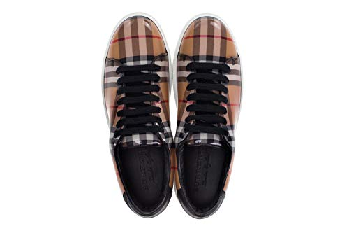 Shoes Sneakers Vintage Beige Women's Gloss BURBERRY Check 'Westford' Upper with High nOSqwxRX5