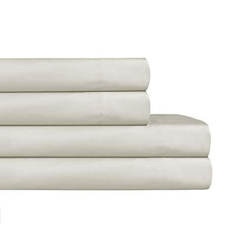 AURAA ESSENTIAL 100% Cotton Peached Percale Sheet Set - Full Sheets - 4 Piece Set, Feather Soft, DEEP Pocket,Big Sale Days,Oeko-TEX Certified, Moonstruck