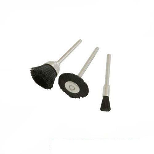 20 mm 15 mm Di/ámetro 5 mm Silverline 282523 Cepillo de Nylon para Herramienta Rotativa 3 Piezas