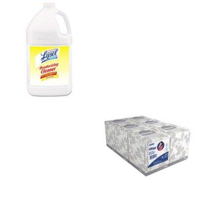 KITKIM21271RAC76334CT - Value Kit - Professional LYSOL Disinfectant Deodorizing Cleaner (RAC76334CT) and KIMBERLY CLARK KLEENEX White Facial Tissue (KIM21271)