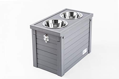 New Age Pet ecoFLEX Piedmont Diner with Storage - Grey