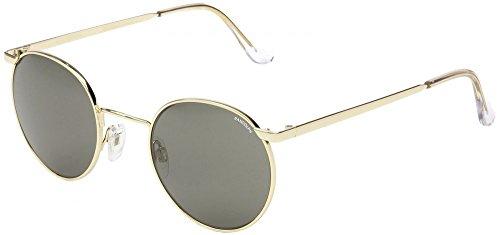 Randolph P-3 Sunglasses 23K Gold / Skull / Gray Glass - Pilot Randolph