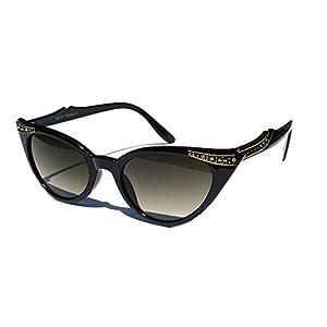 Cateye Women's Eyeglasses or Sunglasses Vintage Inspired Fashion (Black Cat-eye Shades)