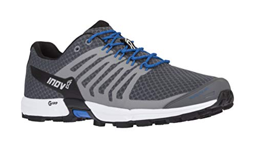Inov-8 Mens Roclite 290 V2 | Trail Running OCR Shoes | Lightweight | Superior Durability & Unrivalled Graphene Grip | Grey/Blue M9/ W10.5