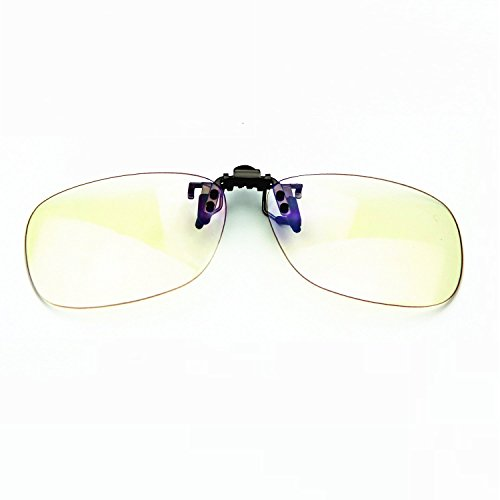 Cyxus Blue Light Filter UV Blocking Glasses [Clip On] Anti Eye Strain (Sleep Better) Anti-Glare, Computer/Cell Phone/PC Game/TV Safety Protection Block Radiation Reading Eyewear [Transparent - Glasses Restore Frames