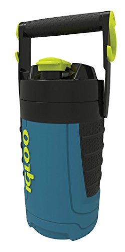 Igloo 1/2 gallon Insulated Hydration Jug, Ice Blue/Black, 64 oz