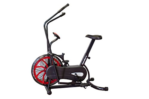 Marcy Fan Exercise Bike with Air Resistance System – Red and Black – NS 1000
