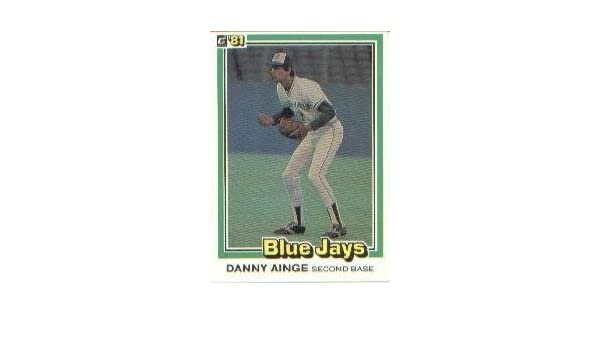 1981 Donruss Baseball Rookie Card #569 Danny Ainge