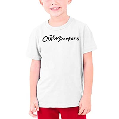 Haiqings Children's The Chainsmokers Casual Round Neck Tee T-Shirt
