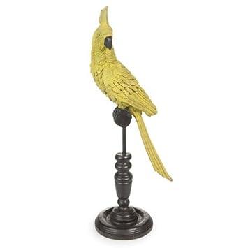Maisons du Monde Figur Papagei aus Keramik gelb H 36 cm ...