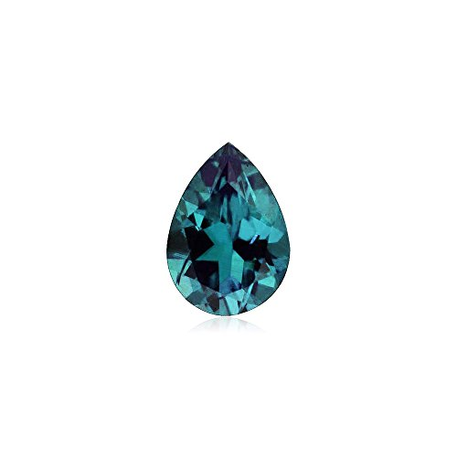 - 0.67-0.80 Cts of 7x5 mm AAA Pear Russian Lab Created Alexandrite ( 1 pc ) Loose Gemstone